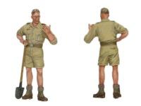 もう一人の工兵です。肩章の兵科カラーのパイピングは工兵の黒です。Flakチームには工兵が3名ずついたようです。