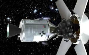 アポロ11号月着陸船 着陸船を引き出す