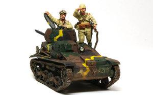帝国陸軍・94式軽装甲車戦車兵&歩兵セット 1/35 グレナディアモデル