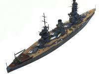 少々ウオッシングで甲板を汚しすぎました。海の上を走る戦艦の甲板はAFVのようには汚れませんよね。