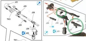 試作重戦車VK.45.02(P)V 機関銃の組立て説明書