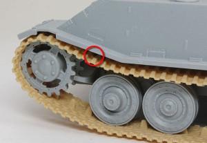 試作重戦車VK.45.02(P)H ピアノ線はほとんど見えない