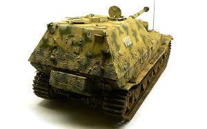 ドイツ重駆逐戦車・エレファント チッピングとパステル・ワーク