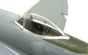 P-47Dサンダーボルト  バブルトップ キャノピーの取り付け