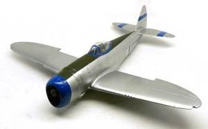 P-47Dサンダーボルト バブルトップ 機体の塗分け