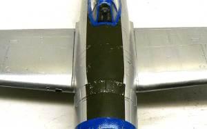 P-47Dサンダーボルト バブルトップ 表面のヘララインとハゲチョロ