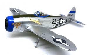P-47Dサンダーボルト バブルトップ デカール貼り
