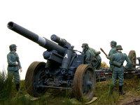 もう一枚、今度は低い確度からです。sFH18の砲架は大変精密にできています。さすがはドラゴンですよね。