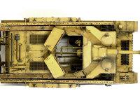 砲塔の装甲板は半分ほどが開くようになっています。キットではごらんのように、見える部分のインテリアはほぼ再現されています。