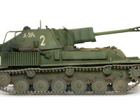 トーションバーサスペンションや前に置かれた起動輪など、足回りはドイツ戦車にそっくりです。