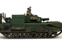 車体の側面にはさまざまな工兵車両用の装備を付けるアタッチメントが付いています。