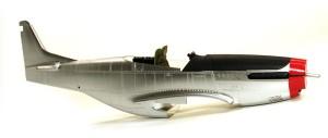 P-51Dマスタング4 機体の塗装 各部の塗分け