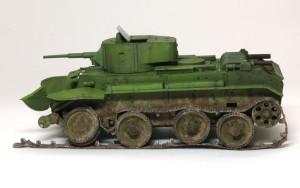 快速戦車BT-7 ウエザリング