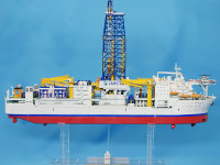 JAMSTEC・地球深部探査船ちきゅう 1/700 バンダイ