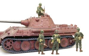 アメリカ歩兵・ラインへの進軍 新型パンター戦車発見