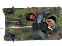 NATO軍の3色迷彩はタミヤの水性アクリル塗料をそのまま使いました。基本色の緑だけは白を少々入れて明度を上げてあります。