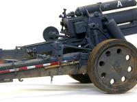 sFH18 15cm重野戦榴弾砲の砲架です。一面リベットだらけです。これが各模型メーカーが製品化をためらった原因とも言われています。ドライブラシが栄えますね。