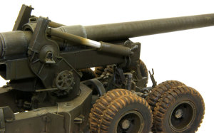 155mmカノン砲ロング・トム  平衡器のハゲ