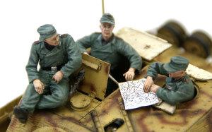 ドイツ・自走砲搭乗員セット ブルムベア中期型に乗せてみた