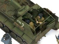SU-76M自走砲の戦闘室です。戦闘室はとても狭く、なかなか大変そうです。