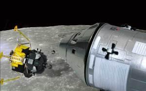 アポロ11号月着陸船 着陸船を切り離す