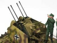 4連装Flak38対空機関砲はすばらしいできですね。これにタミヤのフィギュアセットを乗せてみたいですね。こんどやってみよっと。