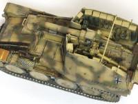 主砲のsIG33はAFVクラブと比べると多少の見劣りはしますが、自走砲に付属の砲と考えれば十分なディテールです。