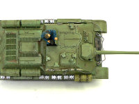 真上から見たSU-85襲撃砲戦車です。ほんのりとエッジにかかっているドライブラシがわかりますか。えっ?わかんない?ううう・・・(T_T)