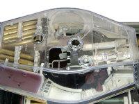 上から見た砲塔内部です。砲塔内に積まれた徹甲弾は内側にも装甲板が置かれ、外部からの攻撃から守られています。