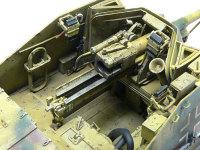 マーダー2の主砲の7.5cm対戦車砲Pak40です。内容は以前作った単体の7.5cm対戦車砲Pak40とまったく同じです。一番さわる部分でもあるので、チッピングは多めに入れてあります。