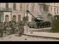 いつものインチキ合成写真です。 ベルリンの市街戦のつもりです。残りわずかなドイツ兵が守るベルリンに、「キタ~」って感じでやってきたJS-IIです。 その割にはドイツ兵に緊迫感がないとか、ちょっと近すぎるんじゃないかとかのツッコミは不可です。