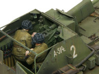 SU-76自走砲の戦闘室のアップです。