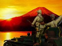 いつものインチキ合成写真です。目の前にはきれいな朝焼けが見えていますが、この後の日本の進む道は泥沼の戦争だったんですよね。