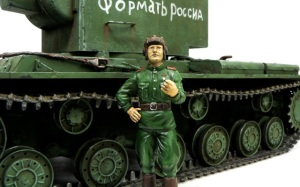 KV-2ギガント 戦車兵の仕上げ