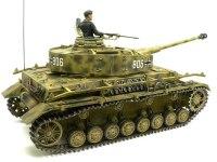 ななめ後ろから見た4号戦車J型です。こちら側も履帯はよれよれです。(T_T)