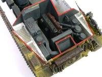 ヘッツァー駆逐戦車のエンジンです。ちゃんと下の方まで再現されているのですが、まったく見えません。(T_T)