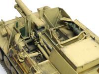 sIG33重歩兵砲も丸見えです。車輪以外は大砲のキットがそのまま入っています。