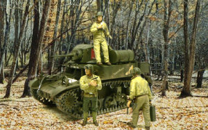 アメリカ・戦車兵 と M3A1スチュアート軽戦車