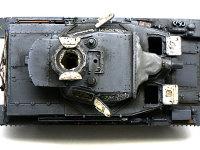 真上から見た4号潜水戦車D型です。ドライブラシによるエッジの強調は、プラスチックの固まりを鋼鉄製に見せてくれます。