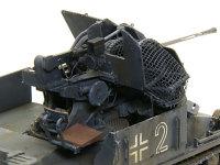 1号対空戦車A型のFlak38です。BRACH MODEL のレジン製薬莢受けバスケットを付けました。