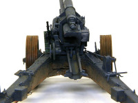 sFH18 15cm重野戦榴弾砲の砲尾部分です。砲の向きを変えるロッドがつながっていませんが、ヴィネットにするときに忘れないようにつなげなければ行けませんね。