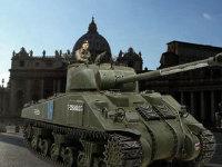 いつものインチキ合成写真です。ローマに進軍した増加装甲付きのファイアフライを表現してみました。ファイアフライと言えば、ヴィットマンを倒したノルマンディのデビュー戦が有名ですが、増加装甲にしたくて後期のイタリア戦線を選択しました。