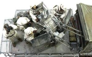 8トンハーフトラック4連高射砲 装備品を塗装して配置