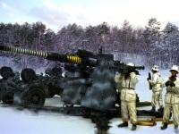 遥かかなたのソ連軍の戦車を狙う88mm砲です。迷彩塗装、マーキングは説明書によると1942年~43年の冬のコーカサスということなので、それをイメージしてみました。実際にはコーカサスがこんなんかどうか知りません。ドラゴンのキットの箱絵のイメージが頼りです。