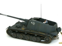 ドイツ・自走砲兵セットと組み合わせたシュトゥーラ・エミールです。今回は地面を作る予定はありませんから、これで完成とします。