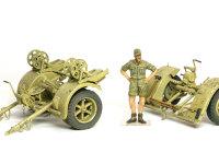 リンバー(車台)です。Flak18のリンバーは前後で形が異なっており、前はタイヤが2本です。Flak36/37では前後は座席の有る無ししか違いがありません。