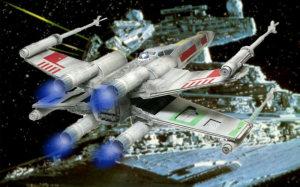 帝国の戦艦に向かうX-ウイング・ファイター