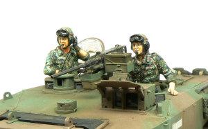 陸上自衛隊・90式戦車 フィギュアの塗装