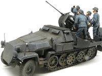 Sd.kfz.251/17C型 に 2cm対空砲兵を乗せてみました。さすがにドラゴンの純正キットどうしです、砲手もぴったりとおさまります。
