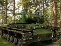 やはり背景をつけて合成写真をつくるならフィギュアを乗せなきゃね。作品62のロシア戦車兵セットから3名を連れてきました。